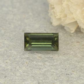 0.3ct Baguette Step Cut Brownish Green Kornerupine Gem (ID: 497916)