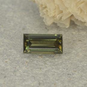 0.4ct Baguette Step Cut Brownish Green Kornerupine Gem (ID: 497918)