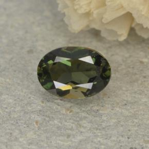 0.3ct Oval Facet Brownish Green Kornerupine Gem (ID: 497934)