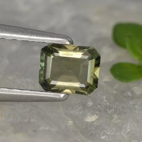 0.4ct Octagon Step Cut Brownish Green Kornerupine Gem (ID: 497942)