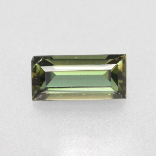 0.4ct Baguette Step Cut Brownish Green Kornerupine Gem (ID: 497945)