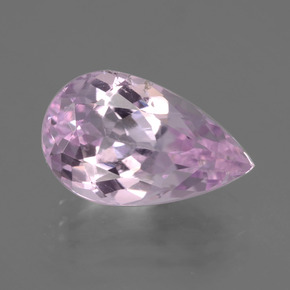 4.9ct Pear Facet Very Light Pink Kunzite Gem (ID: 405835)