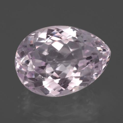 7.6ct Pear Facet Light Cherry Pink Kunzite Gem (ID: 405843)