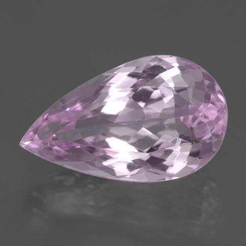 7.9ct Pear Facet Purple Pink Kunzite Gem (ID: 405844)