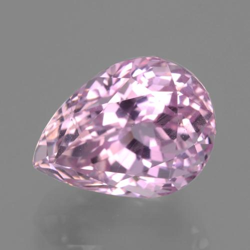 10ct Pear Facet Medium Pink Kunzite Gem (ID: 406498)
