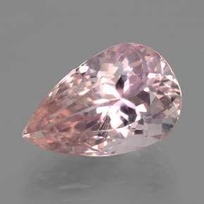 11.8ct Pear Facet Rose Pink Kunzite Gem (ID: 406500)