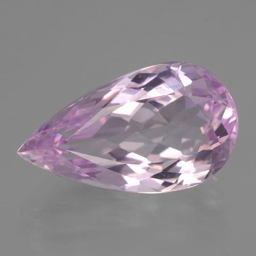12ct Pear Facet Cherry Pink Tone Kunzite Gem (ID: 406501)