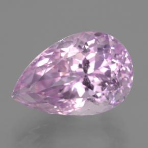 15.2ct Pear Facet Royal Purple Pink Kunzite Gem (ID: 406502)