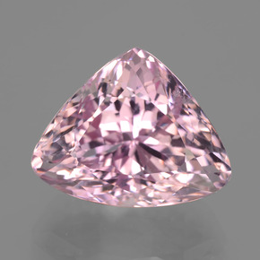 16.13 ct Trillion Facet Pink Kunzite Gemstone 17.55 mm x 13.9 mm (Product ID: 406506)
