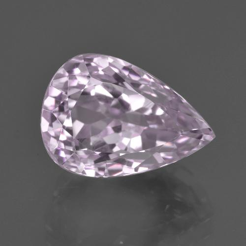 8.6ct Pear Facet Light Cherry Pink Kunzite Gem (ID: 409121)