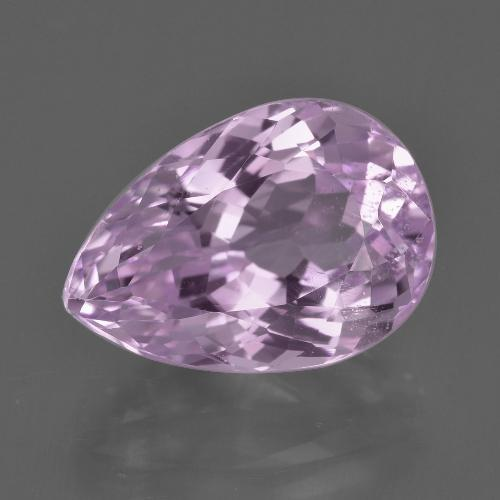 Medium-Light Purple Kunzita Gema - 8.6ct Corte en forma de pera (ID: 409132)