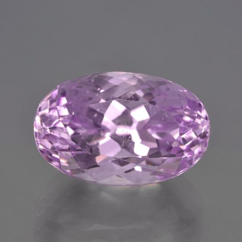 Lilac Kunzite Gem - 11.8ct Oval Facet (ID: 409218)