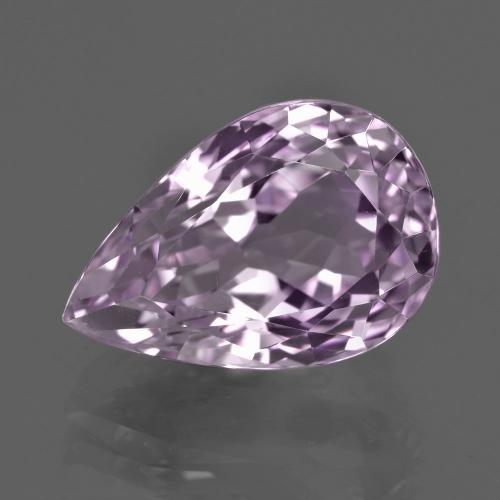 Very Light Pinkish Violet Kunzite Gem - 13.6ct Pear Facet (ID: 409224)