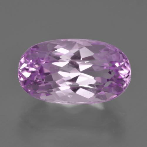 9.25 ct Oval Facet Pink Kunzite Gemstone 16.13 mm x 9.3 mm (Product ID: 409935)