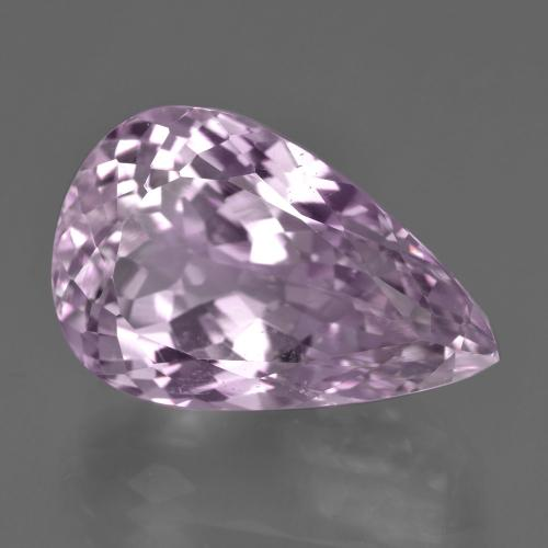21.8ct Pear Facet Royal Purple Pink Kunzite Gem (ID: 410164)