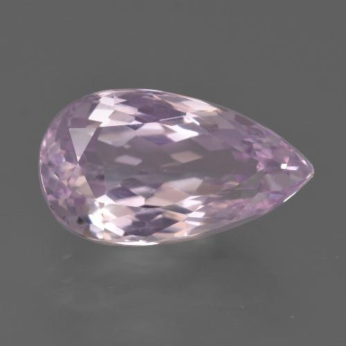 7.3ct Pear Facet Royal Purple Pink Kunzite Gem (ID: 427048)