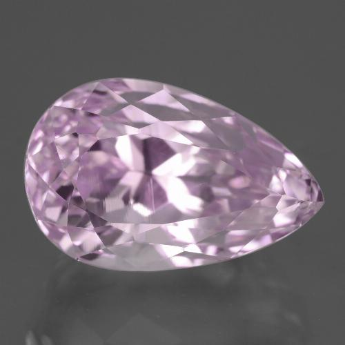 16.6ct Pear Facet Medium Pink Kunzite Gem (ID: 427410)