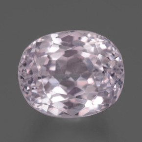 9.90 ct Oval Facet Pink Kunzite Gemstone 12.63 mm x 10.5 mm (Product ID: 437806)