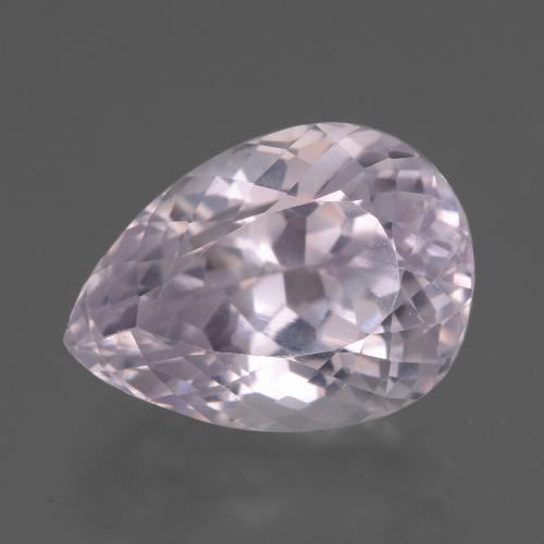 11.5ct Pear Facet Very Light Pink Tone Kunzite Gem (ID: 437808)