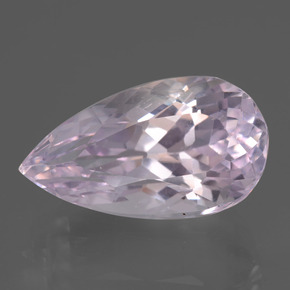 12.3ct Pear Facet Very Light Pink Tone Kunzite Gem (ID: 437810)