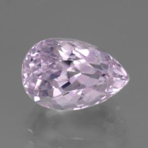 6ct Pear Facet Very Light Pink Tone Kunzite Gem (ID: 441161)