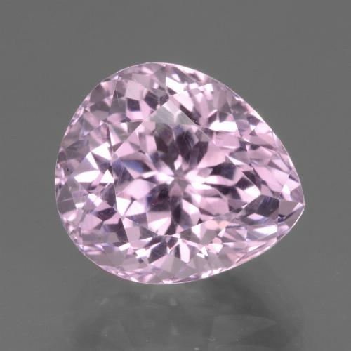 7.2ct Pear Facet Cherry Pink Kunzite Gem (ID: 441163)