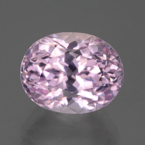 7.62 ct Oval Facet Pink Kunzite Gemstone 12.11 mm x 9.6 mm (Product ID: 441214)