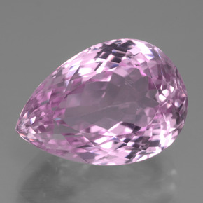 Pink Kunzite Gem - 18.2ct Pear Facet (ID: 441251)