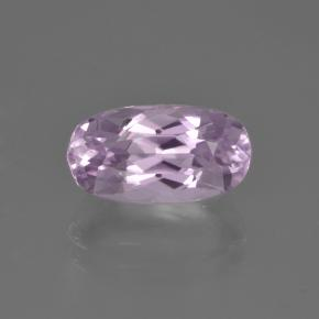 Very Light Lilac Purple Kunzite Gem - 3ct Oval Facet (ID: 453493)