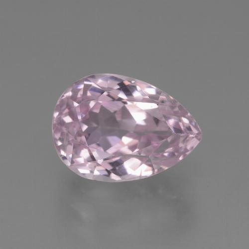 5.2ct Pear Facet Light Pink Tone Kunzite Gem (ID: 453535)