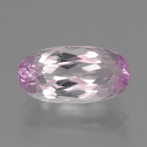 5.92 ct Oval Facet Pink Kunzite Gemstone 15.12 mm x 7.8 mm (Product ID: 453622)