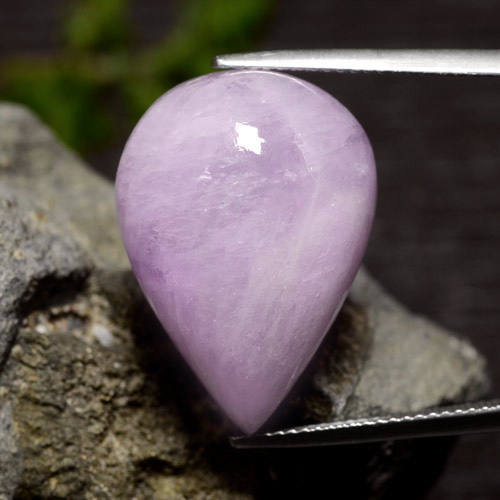 Light Violet Kunzite Gem - 35ct Pear Cabochon (ID: 476733)