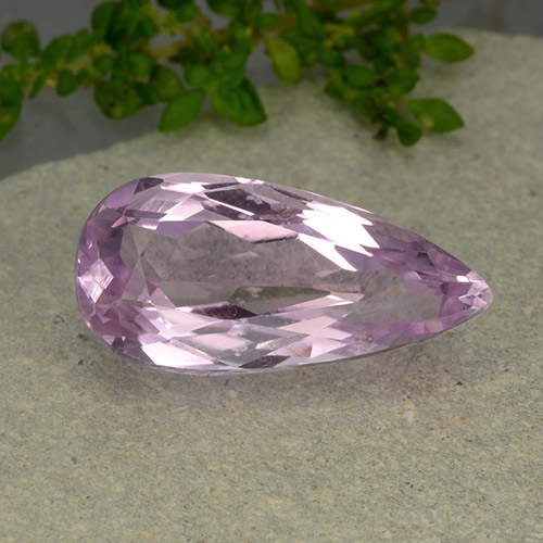 10.6ct Pear Facet Medium Pink Kunzite Gem (ID: 481742)