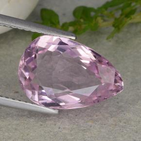 6.1ct Pear Facet Medium Pink Kunzite Gem (ID: 482026)