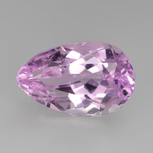 8.9ct Pear Facet Very Light Pink Kunzite Gem (ID: 482093)