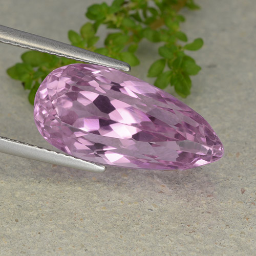 thumb image of 11.2ct Pear Facet Pink Kunzite (ID: 482108)