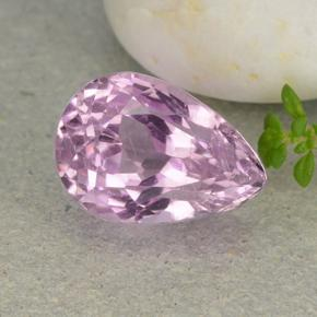 9.1ct Pear Facet Cherry Pink Kunzite Gem (ID: 482132)