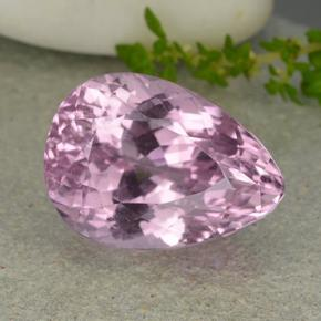 16ct Pear Facet Medium Pink Kunzite Gem (ID: 482134)
