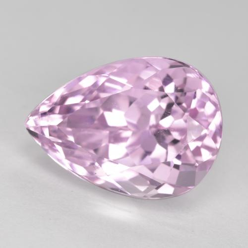 11.8ct Pear Facet Cherry Pink Tone Kunzite Gem (ID: 482135)