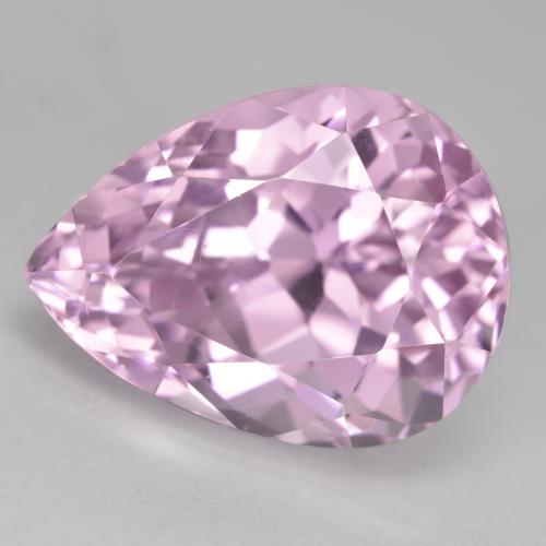 17.1ct Pear Facet Medium Pink Kunzite Gem (ID: 482136)