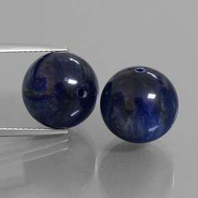 Deep Blue Kyanite Gem - 15.8ct Drilled Sphere (ID: 447301)