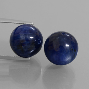 Blue Kyanite Gem - 15.1ct Drilled Sphere (ID: 447304)
