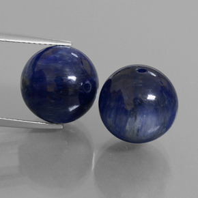 Deep Blue Kyanite Gem - 16.9ct Drilled Sphere (ID: 447305)