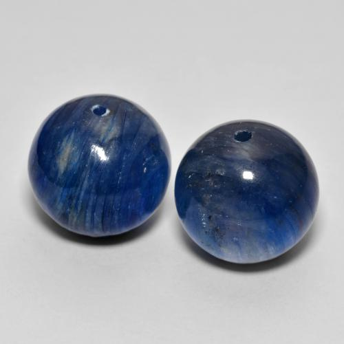 Blue Kyanite Gem - 15.1ct Drilled Sphere (ID: 447307)