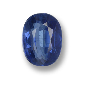 Blue Kyanite Gem - 1ct Oval Facet (ID: 459272)