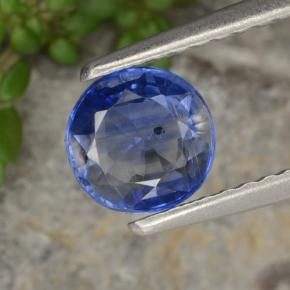 Blue Kyanite Gem - 1ct Round Facet (ID: 474348)