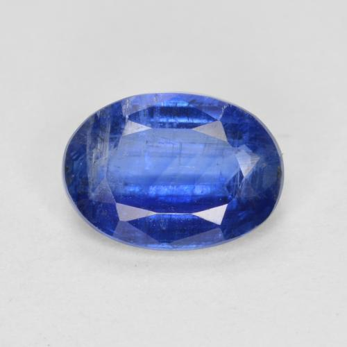 Blue Kyanite Gem - 1ct Oval Facet (ID: 481386)