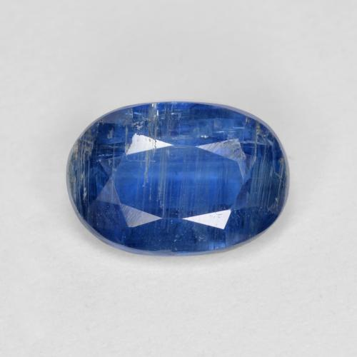 Blue Kyanite Gem - 1.4ct Oval Facet (ID: 481417)