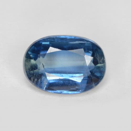 Bright Blue Kyanite Gem - 1.1ct Oval Facet (ID: 481420)