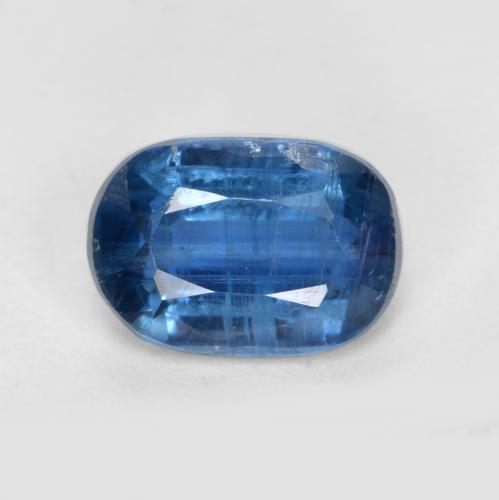 Navy Blue Kyanite Gem - 1.2ct Oval Facet (ID: 481423)